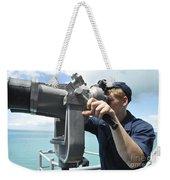 Seaman Mans The Big Eyes Aboard Weekender Tote Bag