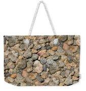 Seamless Background Gravel Stones Weekender Tote Bag