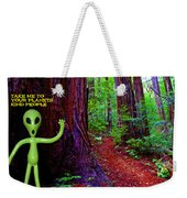 Searching For Friends Among The Redwoods Weekender Tote Bag