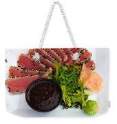 Seared Tuna With Ginger Weekender Tote Bag