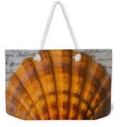 Seashell And Words Weekender Tote Bag
