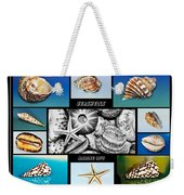 Seashell Collection Weekender Tote Bag by Kaye Menner