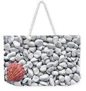 Seashell On White Pebbles Weekender Tote Bag