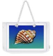 Seashell Wall Art 1 - Blue Frame Weekender Tote Bag