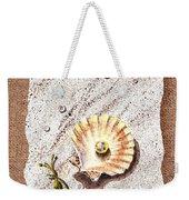 Seashell With The Pearl Sea Star And Seaweed  Weekender Tote Bag