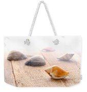 Seashells On Wood Dock Weekender Tote Bag
