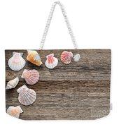 Seashells On Wood Weekender Tote Bag