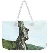 Seaside Moai Weekender Tote Bag