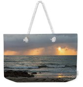 Seaside Rainstorm Weekender Tote Bag