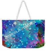Season Greetings - Snowflakes Weekender Tote Bag