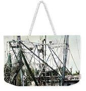 Seasoned Fishing Boat Weekender Tote Bag by Debra Forand