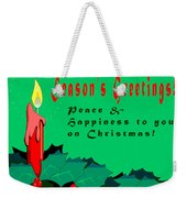 Seasons Greeting Weekender Tote Bag