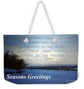 Seasons Greetings Wishes Weekender Tote Bag