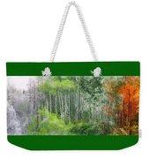 Seasons Of The Aspen Weekender Tote Bag by Carol Cavalaris