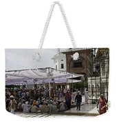 Seated Devotees Inside The Golden Temple Weekender Tote Bag