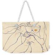 Seated Female Nude Weekender Tote Bag