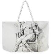 Seated Nude Model Study Weekender Tote Bag