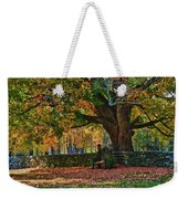 Seated Under The Fall Colors Weekender Tote Bag