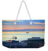 Seattle And Elliott Bay Weekender Tote Bag