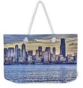 Seattle At Twilight From Alki Beach Weekender Tote Bag