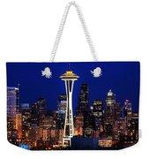 Seattle By Night Weekender Tote Bag