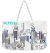 Seattle City With Print Weekender Tote Bag