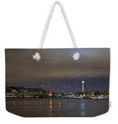 Seattle Cityscape At Night Weekender Tote Bag