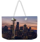 Seattle Cityscape Morning Light Weekender Tote Bag