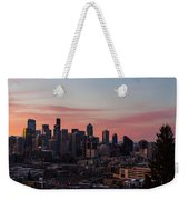 Seattle Cityscape Sunrise Weekender Tote Bag