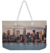 Seattle Dusk Skyline Weekender Tote Bag