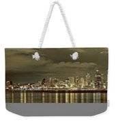 Seattle Lights At Night From Alki Weekender Tote Bag