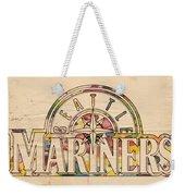 Seattle Mariners Poster Art Weekender Tote Bag