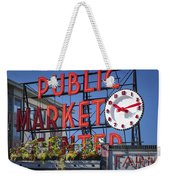 Seattle Market  Weekender Tote Bag by Brian Jannsen