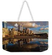 Seattle Pier Sunset Clouds Weekender Tote Bag