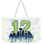 Seattle Seahawks 12th Man Art Weekender Tote Bag