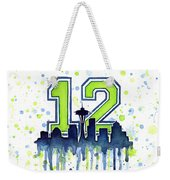 Seattle Seahawks 12th Man Art Weekender Tote Bag by Olga Shvartsur