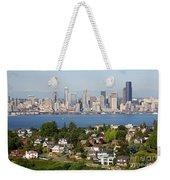 Seattle Skyline Weekender Tote Bag