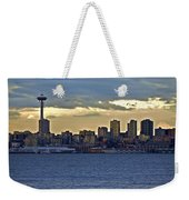 Seattle Skyline In Twilight Weekender Tote Bag