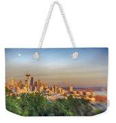 Seattle Skyline Lens Baby Hdr Weekender Tote Bag