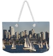 Seattle Skyline With Sailboats Weekender Tote Bag