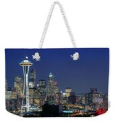 Seattle Skyline With Space Needle Weekender Tote Bag