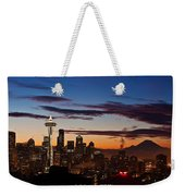 Seattle Sunrise Weekender Tote Bag