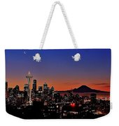 Seattle Sunrise Panorama Weekender Tote Bag