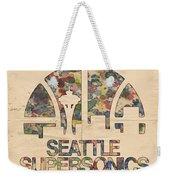 Seattle Supersonics Poster Vintage Weekender Tote Bag