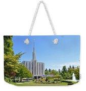Seattle Temple - Horizontal Weekender Tote Bag