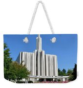 Seattle Temple Weekender Tote Bag