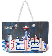Seattle Washington Space Needle Skyline License Plate Art By Design Turnpike Weekender Tote Bag