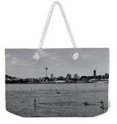 Seattle Waterfront Bw 2 Weekender Tote Bag