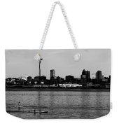 Seattle Waterfront Bw Weekender Tote Bag