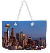 Seattle Winter Evening Panorama Weekender Tote Bag